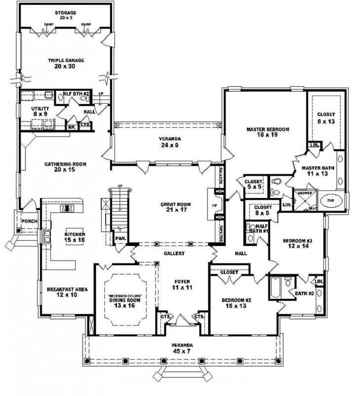 653903 1 5 story 5 bedroom 4 full baths 2 half baths for 1 5 story house plans