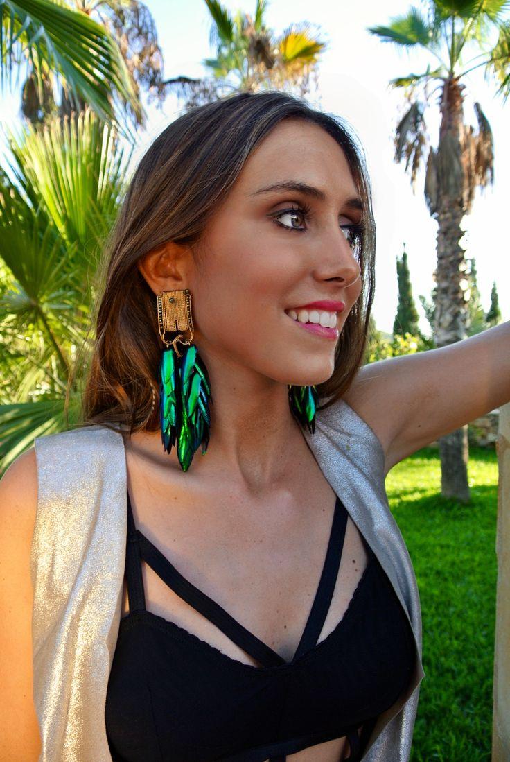 Do you want to get this look?  Earrings by Kurru Kurru Top by Duality Ibiza