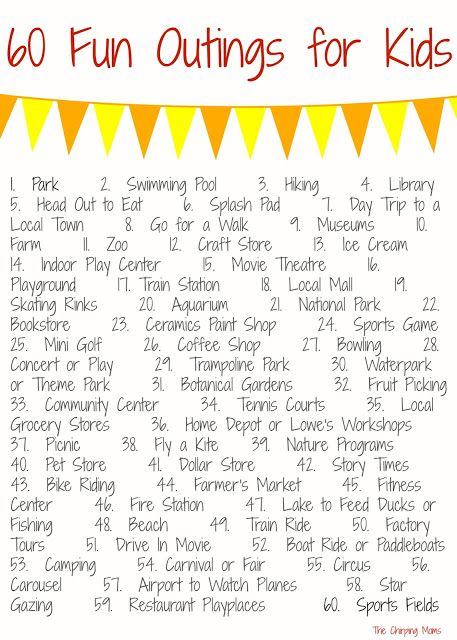 60 Places to Go with Kids    The Chirping Moms