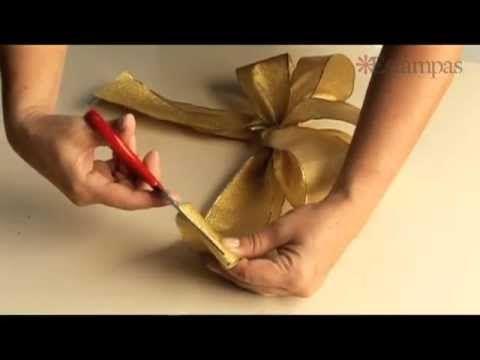 Paso a paso: Cómo hacer lazos de Navidad   Ideas para Decoracion