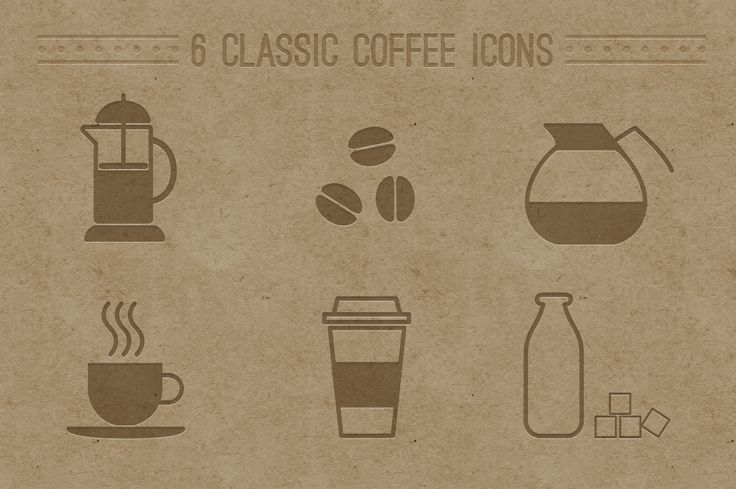 Designer Resource: 6 Classic Coffee Icons From Creative Market