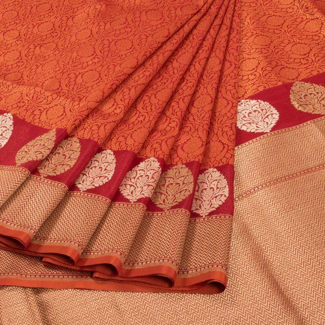 Shivangi Kasliwaal Handwoven Tanchoi Banarasi Katan Silk Saree 10009324 - AVISHYA.COM