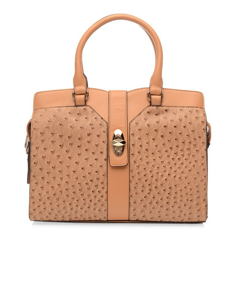 BLOSS AND CO | Roberta Ostrich Tote in Light Tan - Women - Style36  #style36 #xmasshopping #wishlist