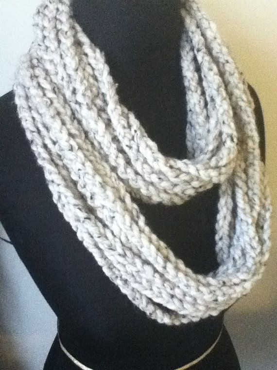 Free US Shipping: Oatmeal Infinity Necklace/Scarf