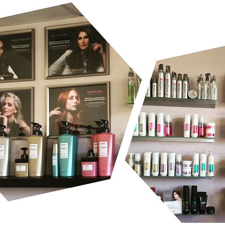 A little snapshot at our retail wall, filled with Goldwell Dualsenses Hair Care Range, Kerasilk Hair Care Range and Style Sign Styling Range