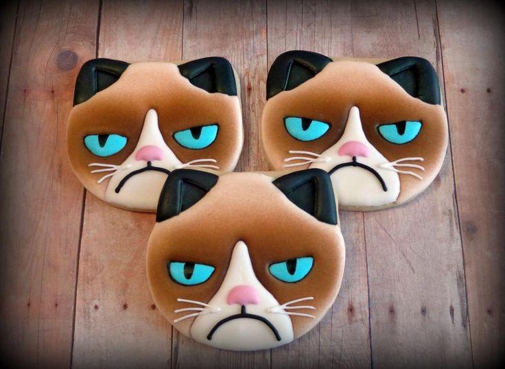 Grumpy Cat   Cookie Connection ★ More on #cats - Get Ozzi Cat Magazine here >> http://OzziCat.com.au ★