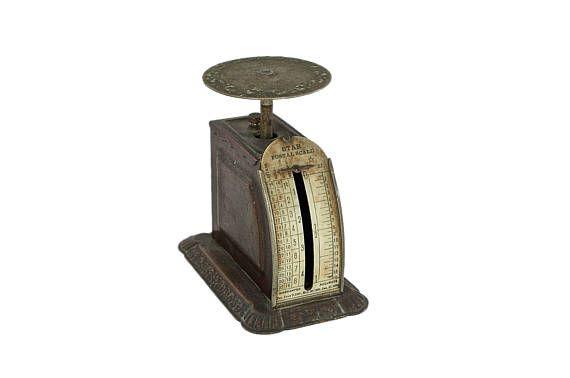 Antique Pelouze Postal Scale-Mailing Scale-Letter Scale-Rustic