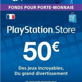 Carte Playstation Network 50 EUR [Code Jeu PSN PS4, PS3, PS Vita - Compte français] de Sony