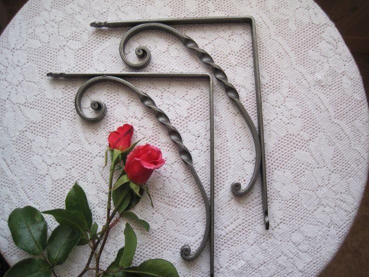 French Shelf Brackets – Pewter Coloured Metal (1 Pair) for Storage Shelves by FrenchCountryAttics on Etsy