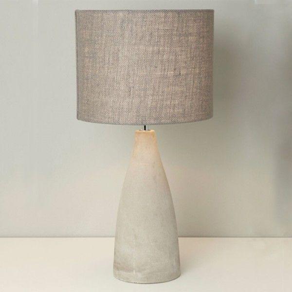 Beer Table Lamp Bedside Concrete Elegant Design