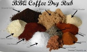 BBQ Coffee Dry Rub is the perfect rub for kicking up your chicken, beef or pork. It infuses your taste buds with a sweet slightly nutty flavor and can be kicked up with some heat if you double up on the cayenne pepper.   This is a great recipe to prepare in large batches. …