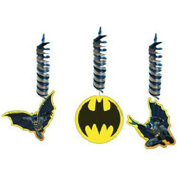 BATMAN HANGING DECORATIONS 3PK CEILING DANGLING DECOR SUPER HERO PARTY SUPPLIES…