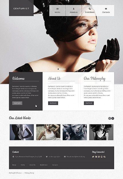 unique dark & bright website