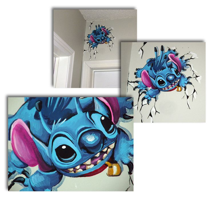 Stitch mural by Angie Daley.  More amazing Disney murals can be found on angiedaley.wordpress.com