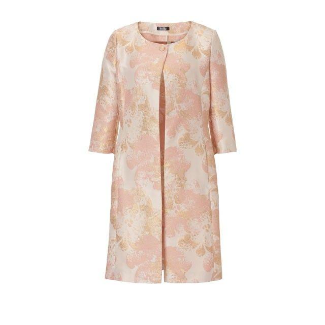 Vera Mont Long Line Printed Jacket Pink