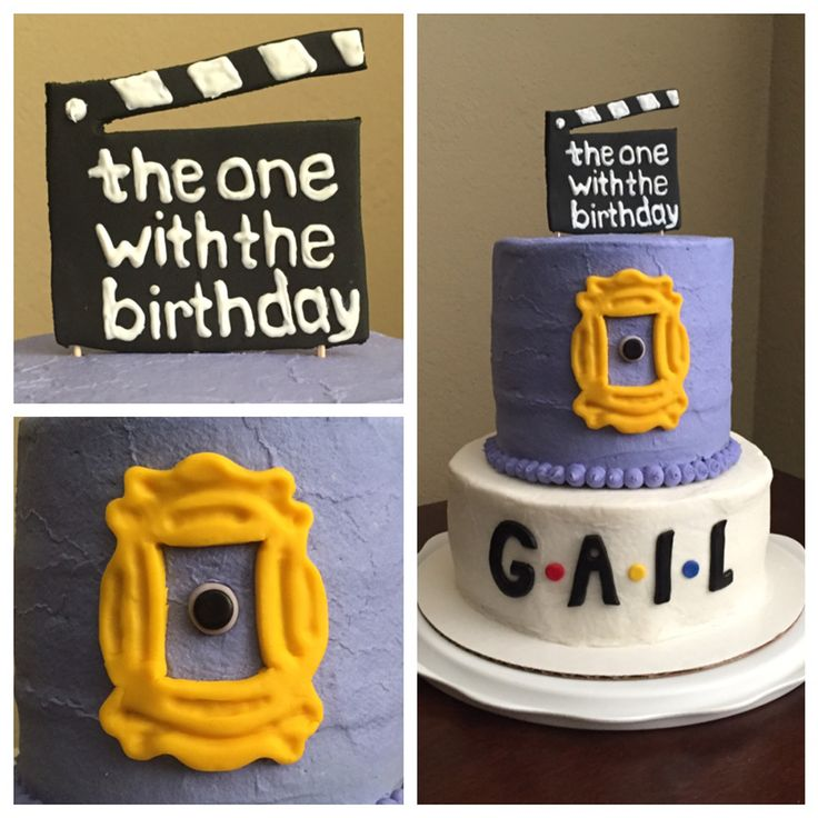 Friends TV show themed birthday cake. Made August 2015.