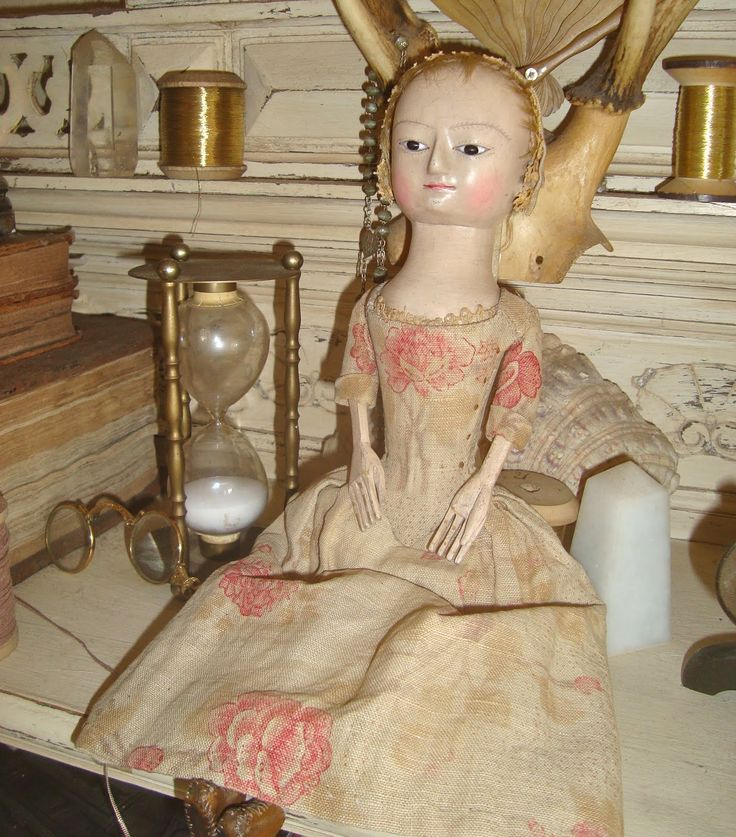 18th century-style wooden doll