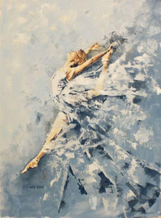 Celestial dance (2015) Oil painting by Violeta Oprea | Artfinder