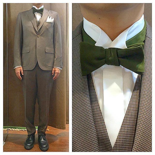 Brown Houndstooth suit.  フラップ付きのカジュアルなアウトポケットに、ブラウンの千鳥格子柄でスリーピース。  モスグリーンの蝶ネクタイでアースカラーコーデ。  オーダーメイド製品はlifestyleorderへ。  all made in JAPAN  素敵な結婚式の写真を@lso_wdにアップしました。  wedding photo…@lso_wd womens...@lso_andc  #ライフスタイルオーダー#オーダースーツ目黒#結婚式#カジュアルウエディング#ナチュラルウエディング#レストランウエディング#結婚準備#新郎衣装#新郎#プレ花嫁#蝶ネクタイ#メンズファッション#千鳥格子#スリーピース  #lifestyleorder#japan#meguro#photooftheday#instagood#wedding#tailor#snap#mensfashion#menswear#follow#ootd#bowtie#suit#shirt