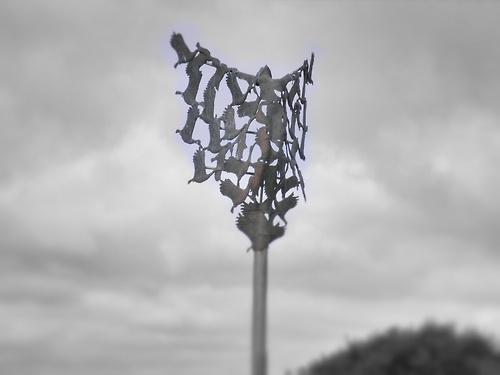 Sculpture, just outside Mullingar, County Westmeath, Ireland (ROI)