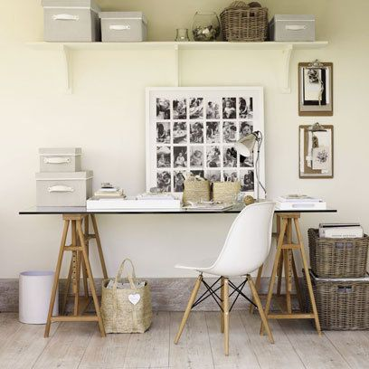 Storage ideas for studies: Decorating Ideas: Interiors | Red Online. The white company.