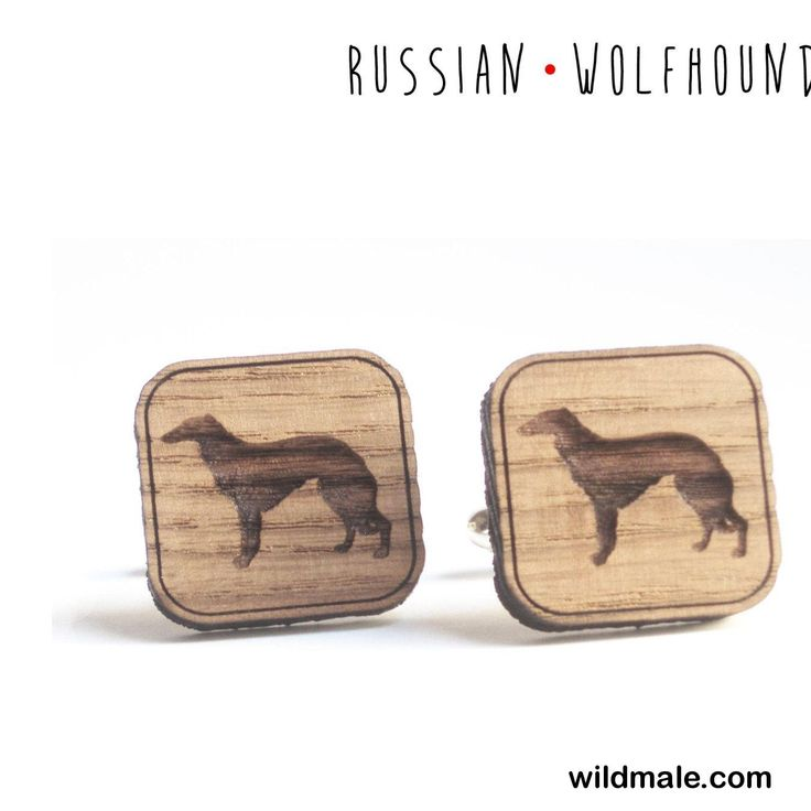Russian Wolfhound cufflinks for dogs lovers, rustic male accessory - http://wildmale.com/russian-wolfhound-cufflinks-for-dogs-lovers-rustic-male-accessory