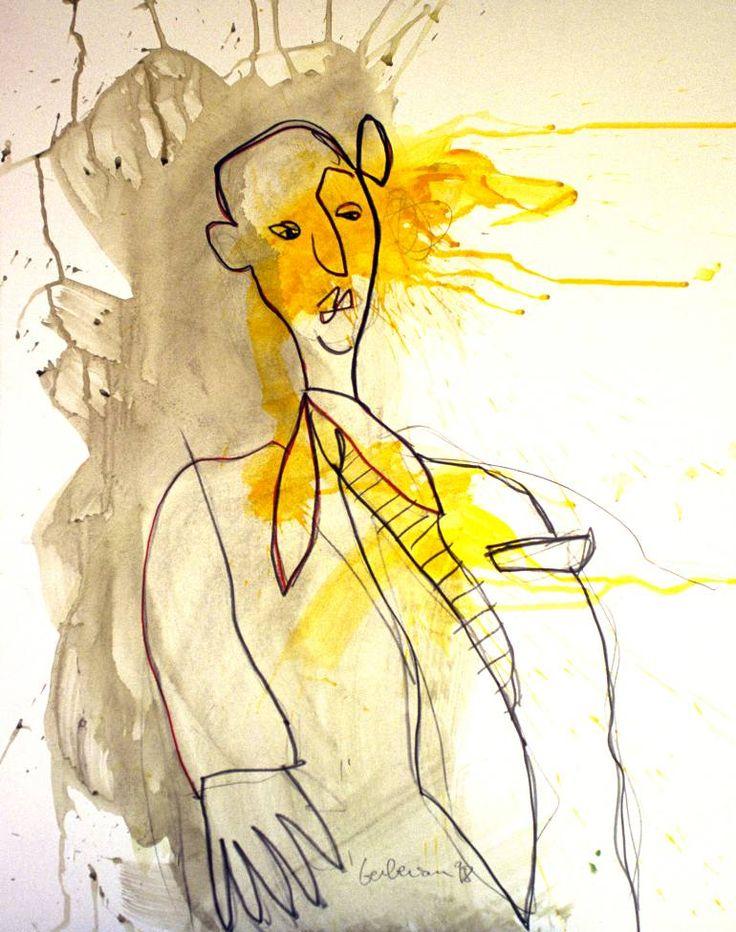 Michel Berberian (1949) geboren in een familie van kunstenaars en antiekwinkels. Toen hij 10 jaar oud was, opende zijn ouders een galerie in Parijs.  Aan het einde van zijn studie, na een verblijf in de Verenigde Staten, richtte hij zijn eigen ontwerpstudio,reclamebureau op. Maar de noodzaak om terug te keren naar persoonlijke expressie achtervolgt. In de late jaren 1990, hervatte hij zijn penselen.