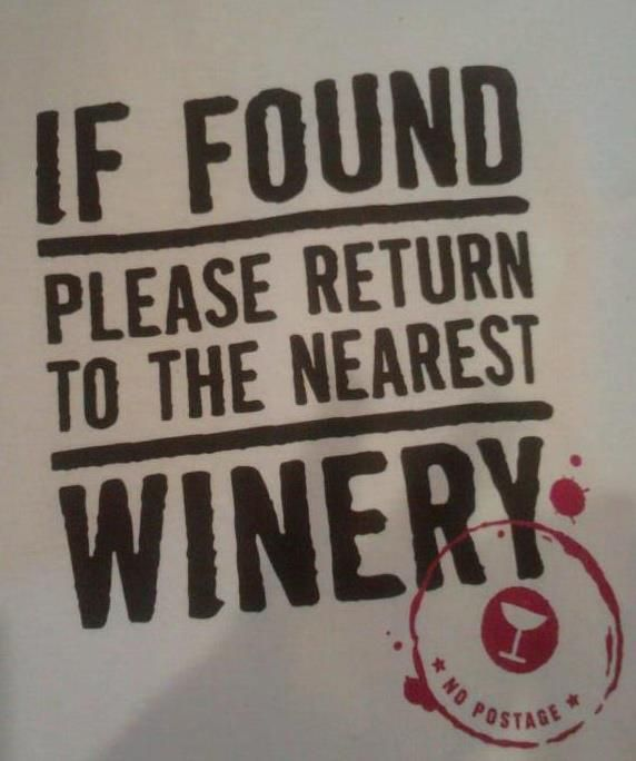 Please return to the nearest winery