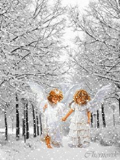 MOVING Snowing Angels Photo - Angel GIF /  //  Check out Fairies & Angels on Facebook >> https://www.facebook.com/FairiesandAngels1/ <<Click There 7/16/16