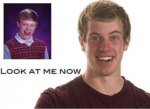 WAIT WHAT?....Luckier Awesome, Laugh, Real Life, Funny Stuff, Bad Luck Brian Now, Awesome Pin, No Way, Thanksunlucki Brian, Unlucky Brian