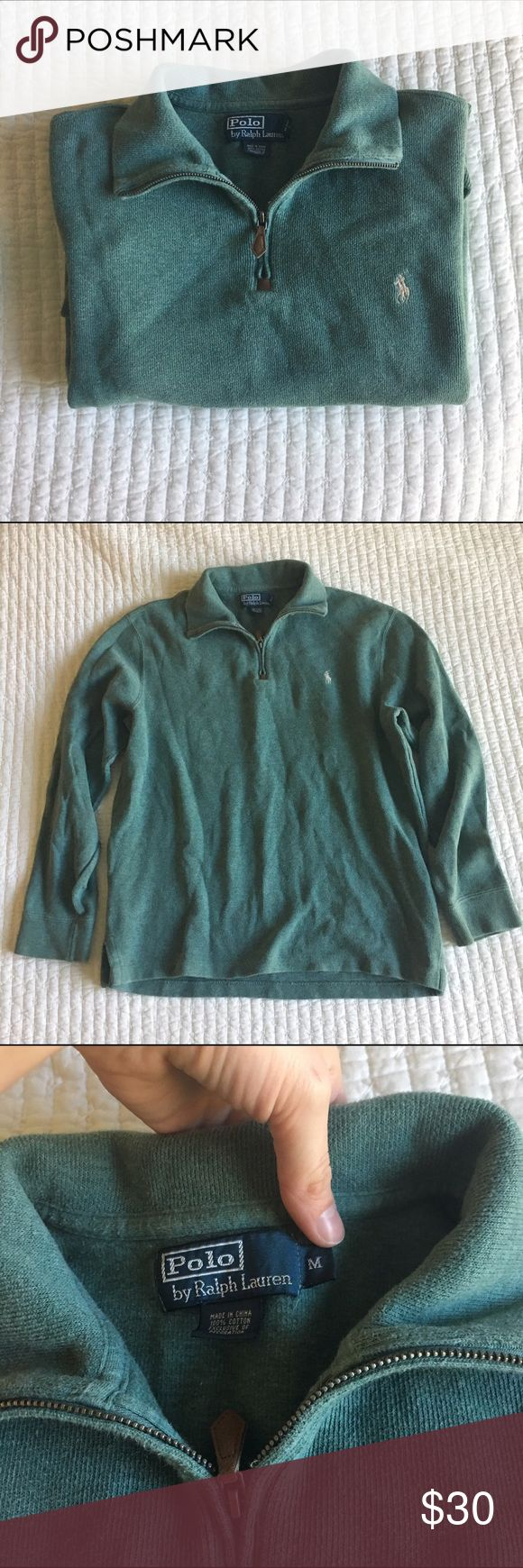 Polo Pullover Polo Ralph Lauren. Forest Green. Medium. No flaws. Great condition! I wore it as an oversized pullover -- can be either a man or woman's pullover. But it was bought from the men's section. Polo by Ralph Lauren Sweaters