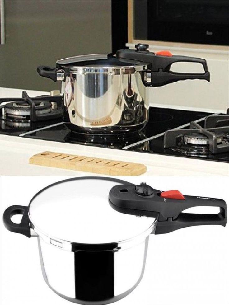 Stainless Steel Pressure Cooker Food Fast Cooking Kitchen Cookware Pot 3.3 Qt #StainlessSteelPressureCooker