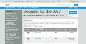 SAT sign up