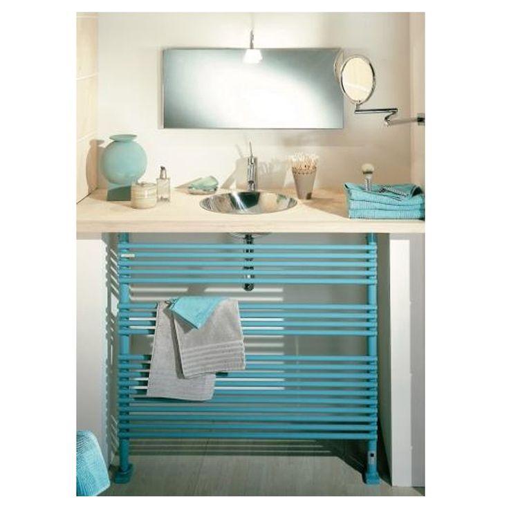 Sèche-serviettes horizontal ACOVA Kéva Spa TSKI. Hauteur 85 cm idéale pour se glisser sous un plan vaque ou sous une fenêtre. Disponible dans 50 couleurs au choix.