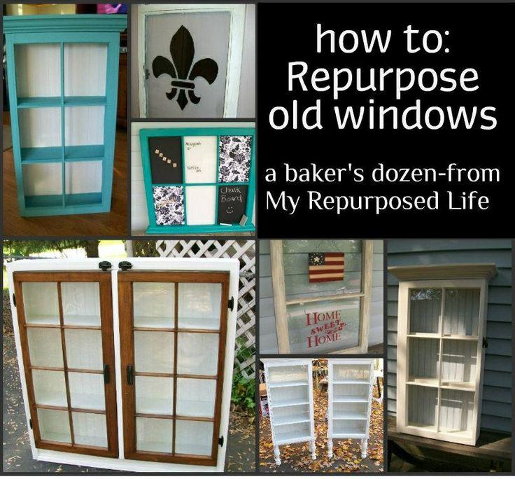 My Repurposed Life How to repurpose old windows