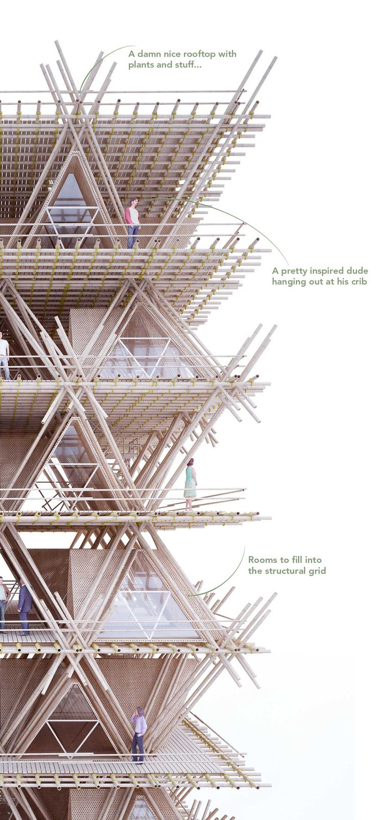 Penda revealed new ecological-Bamboo city vision rethinking the process and sustainable materials