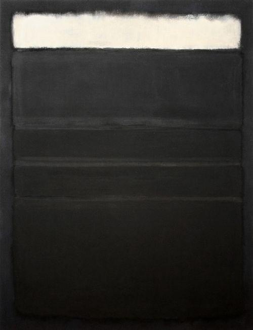 Rothko Mark ( Daugavpils, Lettonia 1903 - New York 1970) Black with White 1962