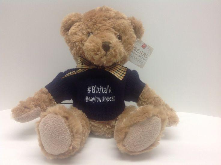 #bizitalk personalised Suki Oliver teddy bear by #SIWB