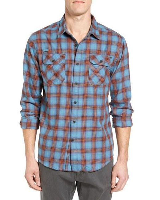 Gramicci | Blue Burner Regular Fit Plaid Flannel Shirt for Men | Lyst