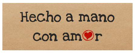 Etiqueta adhesiva Hecho a mano con amor