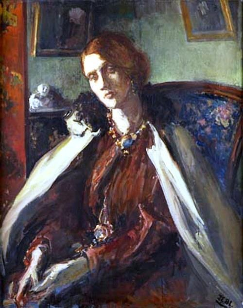 painting of Virginia Woolf's mother, Julia Prinsep Stephen (Duckworth)   by Jacques Emile Blanche