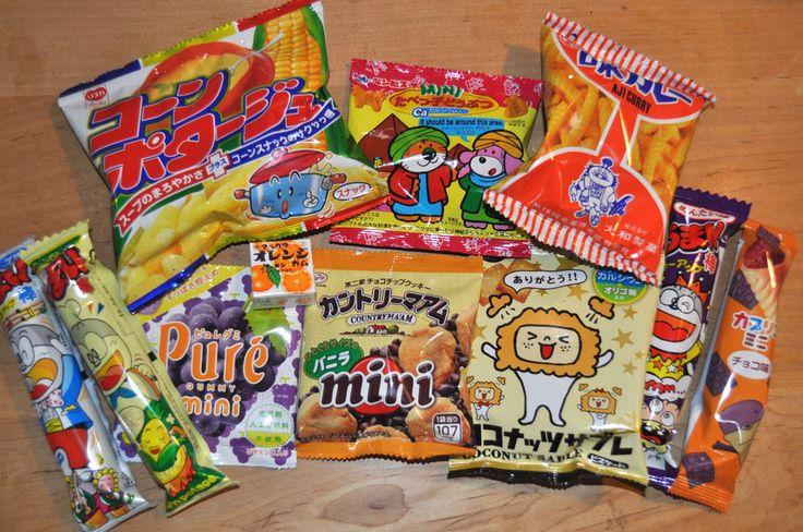Selected Japanese Snack Box Set, 11pc of snacks/candies/dagashi
