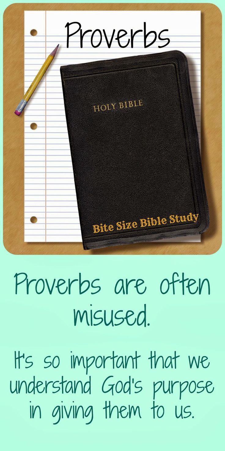 For years I used Proverbs as if they were promises of God. This short Bible study explains what God says about Proverbs.
