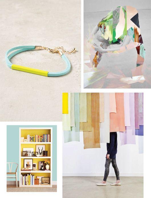 Minty Fresh Inspiration... kain-kain yang bertumpuk, bisa dijadikan alternatif utk tirai pesta ^^