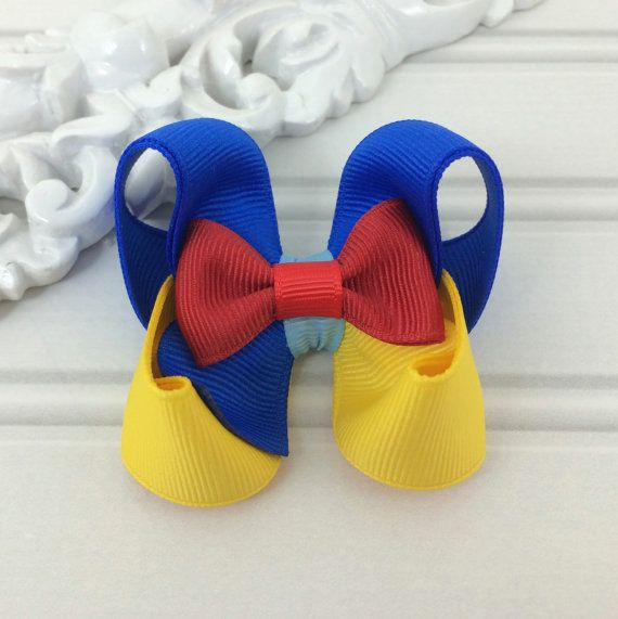 Princess Snow Girl Hair Bow by cococamila on Etsy, $4.50