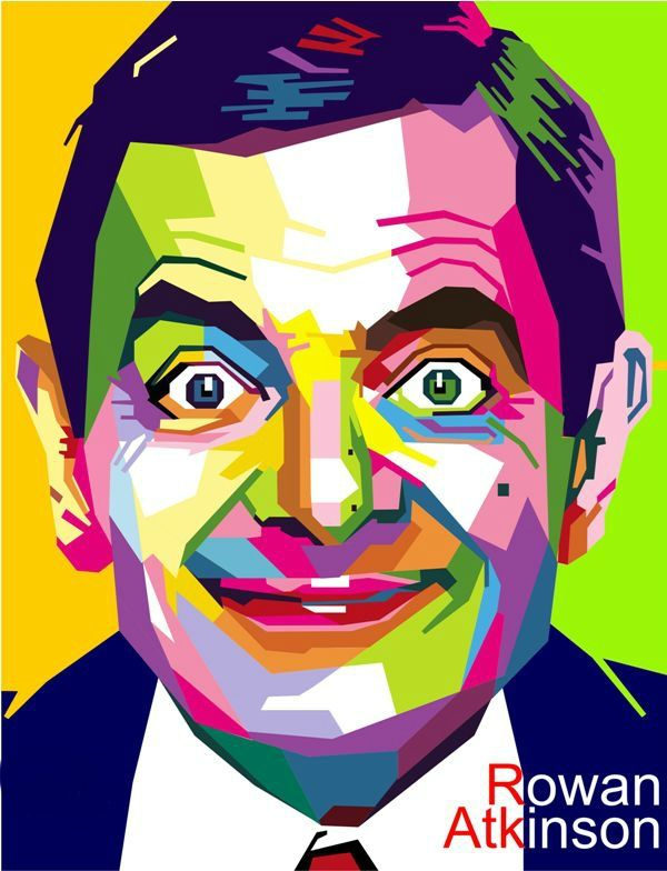 #troistone #tshirt #handmade #design #unique #fashion #rowan #atkinson #mrbean #geometric #colorful