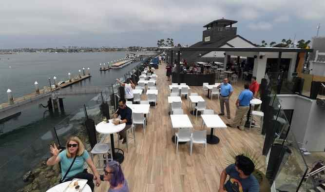 The grand opening of Ballast Point Tasting Room & Kitchen, at 110 Marina Drive in Long Beach. (Photo by Stephen Carr / Press-Telegram)