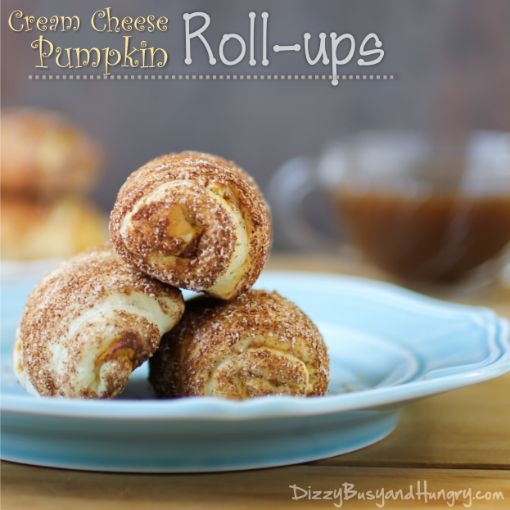 Cream Cheese Pumpkin Rollups - Pumpkin pie flavor in a bite-sized, hand-held treat!