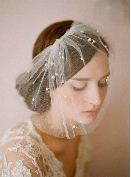 new short veil Tulle  hair accessories  Bridal Accessories  wedding veil -Etsy