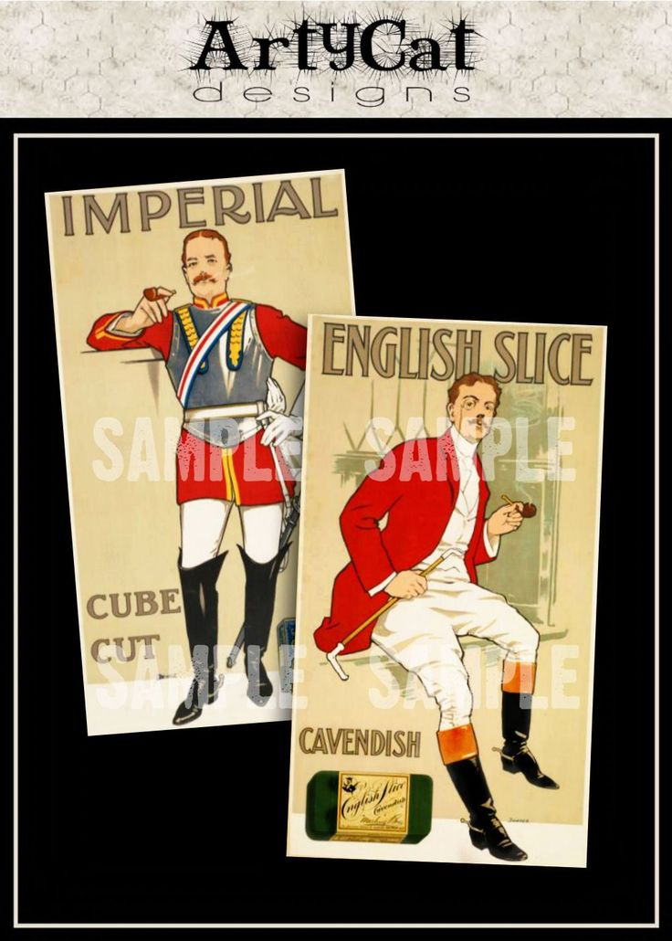 Smoking pipe stuff! English men in vintage advertisements in uniform for unique decoupage application or digital downloadable printable collage image supply for altered art. #SmokingPipes #Decoupage #ImageSupply #CollageElements #Decoupage